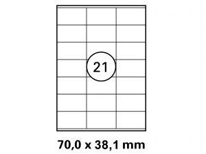 Etiketten auf DIN A4 Bogen
