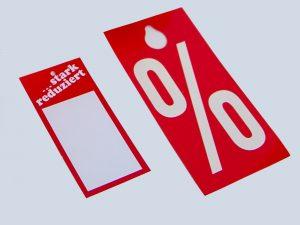 Karton-Aktionsetiketten