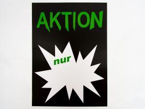 "10-Sale Plakate DIN A4 ""Aktion nur"" schwarz/grün"