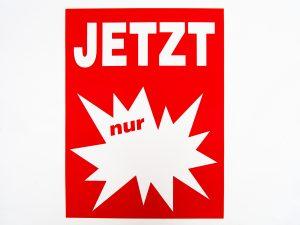 """10 Sale-Plakate DIN A4 """"Jetzt nur"""" rot/weiß"""