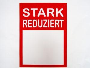 "10 Sale-Plakate DIN A4""Stark reduziert"""