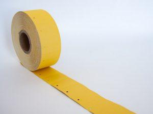 1.000 Kartonetiketten gelb 30x45 mm auf der Rolle