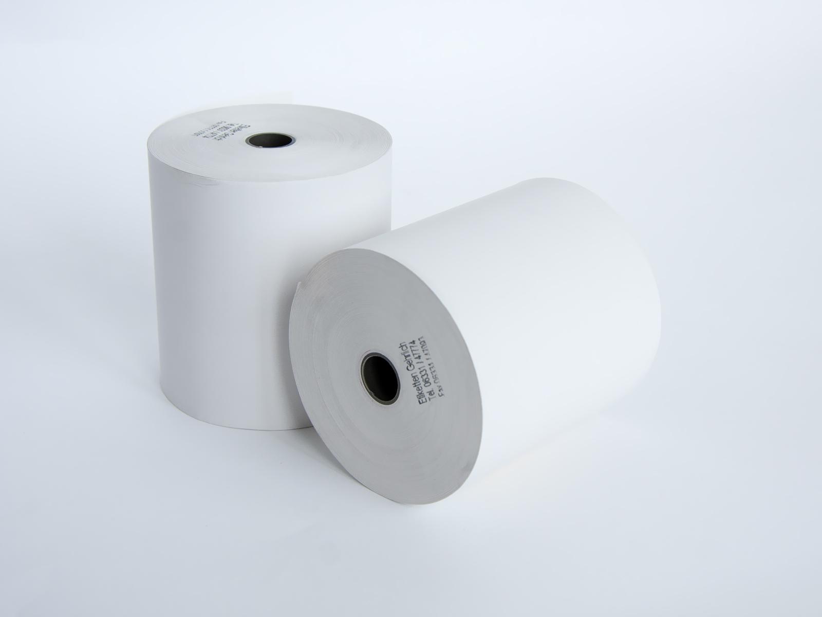 Papier-Kassenrolle weiß 40 m lang 76 mm breit 40 m