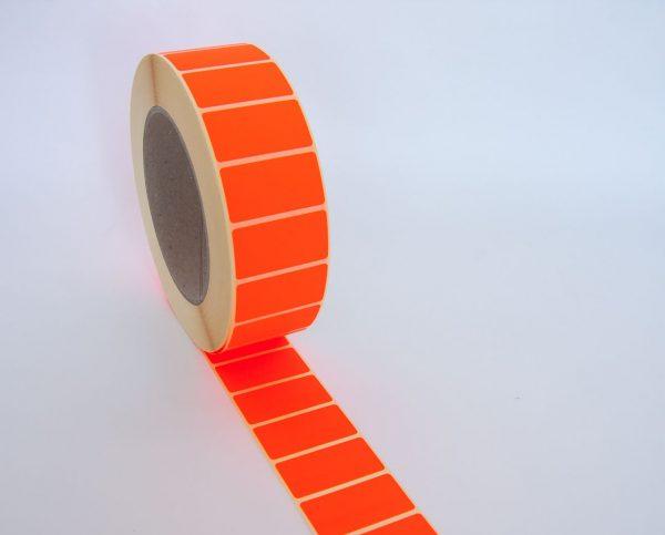 3.000 Transfer Haftetiketten rot 48 x 25 mm