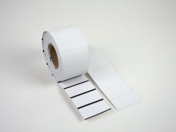 Thermo Regaletiketten 50 x 26mm für Scannerschienen
